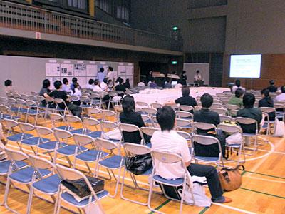 日本建築学会大会2009:体育館の様子