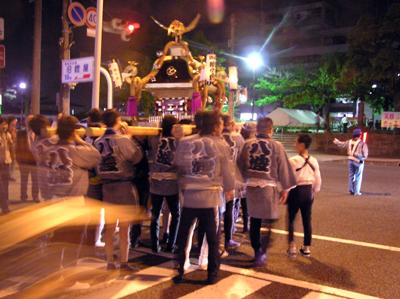 酒田まつり2009前夜祭の八波会神輿
