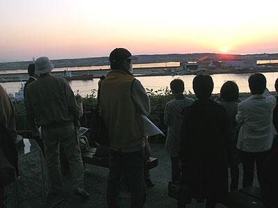 船場町ナイトウォーク第1部:日没