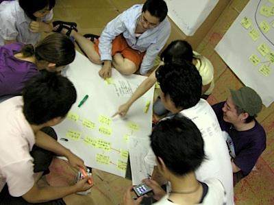 早稲田大学オープン教育センター「都市活性化のデザイン」演習の様子